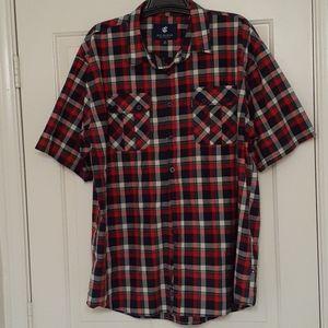 Rocawear Classic Big & Tall Men Short Sleeve Shirt